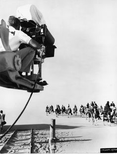 On the set of the 1962 David Lean film Lawrence Of Arabia.