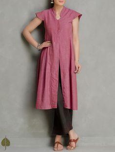 Printed Kurti Designs, Simple Kurti Designs, Kurti Neck Designs, Kurta Designs Women, Indian Dresses Traditional, Salwar Kurta, Heavy Dresses, Kurtis, Cotton Dresses