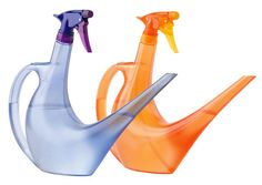 Mist-N-Pour: No more carrying around two different bottles when taking care of your plants. This is a watering can and spray bottle combined. It lets you water the soil with the spout, then spray the leaves with a simple twist of the sprayer head. Gardner's Supply Company. See what other cool products I found http://decoratingfiles.com/2012/07/cool-household-products/