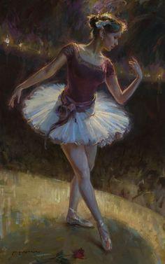 Beautiful ballet painting by Daniel Gerhartz Art Ballet, Ballerina Painting, Ballet Dancers, Ballerinas, Ballerina Kunst, Beautiful Paintings, Painting & Drawing, Amazing Art, Art Photography