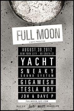 Full Moon Party NYC Poster