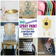 60 Amazing Spray Painting Projects - Great Ideas for All Over the House (and outside too!) - Suburble.com