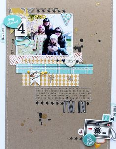#papercraft #scrapbook #layout. I'm In by MelBlackburn at @studio_calico