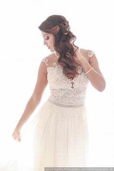 Acconciatura laterale per la sposa #matrimonio #nozze #sposa