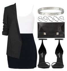 """Style #4056"" by vany-alvarado ❤ liked on Polyvore featuring Topshop, A.L.C., Yves Saint Laurent, Helmut Lang, ASOS and Unique"
