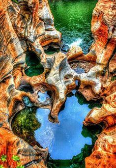 Bourke's Luck Potholes, Blyde River, Kruger National Park, South Africa