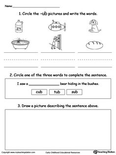 Tomas And The Library Lady Worksheets Pdf Beginning Letter Sound Ub Words  Letter Sounds Words And Reading Day After Tomorrow Worksheet with Fifth Grade Geometry Worksheets Word Free Word Recognition Writing And Drawing Ub Words Worksheet Trihybrid Cross Worksheet Pdf