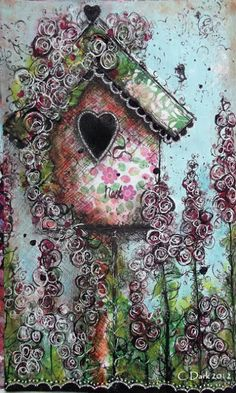 "Sketching Stamper: Mixed Media Book Journal - ""Bird House""."