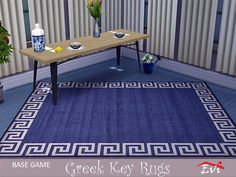 Classical summer rugs decorated with the Greek key Found in TSR Category 'Sims 4 Rug Recolors' Sims Community, Sims Resource, Electronic Art, Greek Key, Kids Rugs, Decor, Decoration, Kid Friendly Rugs, Decorating