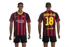 16e5a78d409f2 Maillot Barcelone Jordi Alba 18 Domicile 2013-2014 Nike