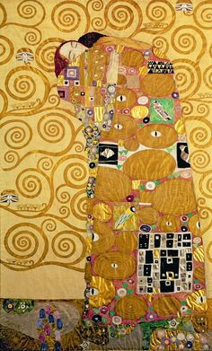 Gustave Klimt - Fulfillment (The Embrace) (1905) Dream when you're feeling blue ...