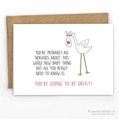 All You Need To Know Is You'll Be Great! Baby Card