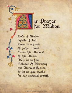 Air Prayer For Mabon from OwlsandIndigo.com