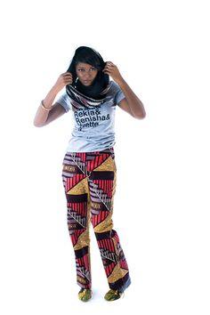 Nubian Hueman l Salmon/Brown/Gold Pants
