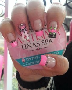 Pretty Nail Art, Cool Nail Art, Classy Nails, Cute Nails, Pink Nails, Glitter Nails, Hair And Nails, My Nails, Mandala Nails
