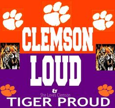 Clemson Tigers!!  Go Tigers!!   Like my facebook page for exercise tips, support, and recipes.  https://www.facebook.com/letsbefit43/?ref=aymt_homepage_panel