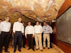 En la inauguración del parque minero del Maestrat Culla-La Torre d'en Besora