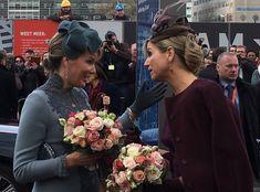 Queen Mathilde (L) of Belgium and Queen Maxima (R) of the Netherlands in Utrecht, Netherlands | November 30, 2016