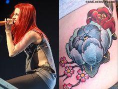 Hayley Williams flower tattoo