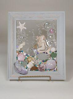 Resin Wall Art, Diy Resin Art, Resin Crafts, Jewelry Crafts, Sea Glass Mosaic, Sea Glass Art, Sea Art, Stained Glass, Seashell Art