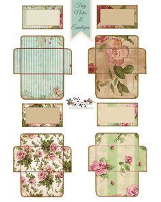 Displaying tiny notes & envelopes-Glenda's World Journal Cards, Junk Journal, Etiquette Vintage, Envelope Art, Envelope Templates, Box Templates, Origami Templates, 3d Origami, Vintage Labels