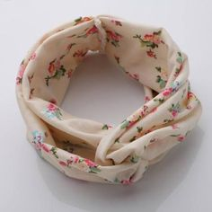 10 Colors Fashion Retro Women Elastic Turban Twisted Knotted Yoga Headband - Shabby Chic Cream, pink floral