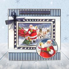 Santa can't wait to get giving his presents out! This set is from the Winter Wonderland collection