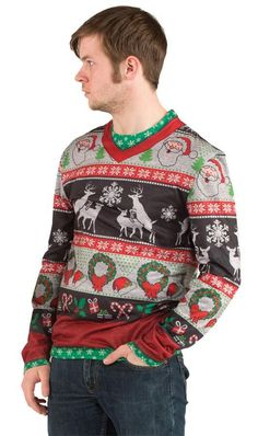 Ugly Christmas T-Shirt Candy Canes Adult | Ugly Christmas Sweater ...