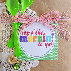 Free Printable: St. Patrick's Day Tag and cute Breakfast and Craft Idea for the Kids
