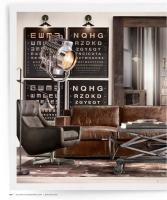 Love the stud detail on the couch but may be too distressed.... Like the adjustable coffee table too... RH
