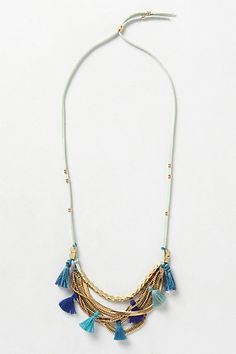 Tassel Swing Necklace #anthropologie