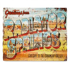Radiator Springs Metal Sign - Cars | Disney Store
