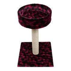 29.5-inch Deluxe Cat Scratching Post Purple Argyle
