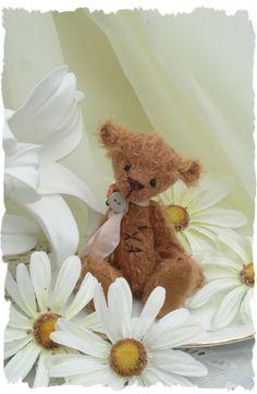 Flora little tatty mohair art bear. by forrestfairy on Etsy, £25.00