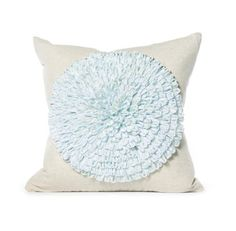 Daniel Stuart Studio - Gallery - Dahlia Pillow - Churchill Linen Dahlia Pillow col: Blue Mist / Flax