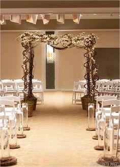 Gorgeous ceremony backdrop courtesy of @FlowersWeddings from the 2nd Cape Cod NotWedding! (Photo: Lisa Elizabeth Images) #wedding