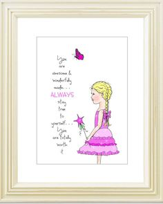 Girl print  inspirational print  personalized print by gracieandco, $10.00
