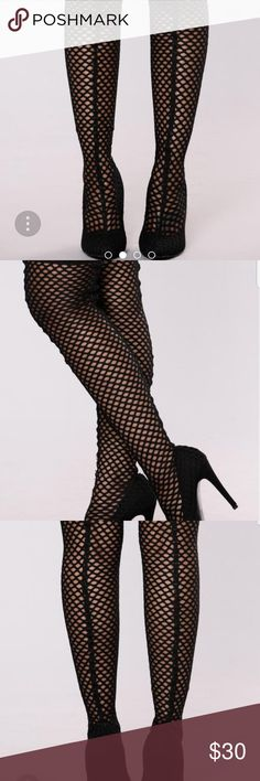 "Knee high boots NEVER BEEN USE. 3 pairs Thigh high boots, pointed toe, mesh upper, 4""inch heel. Extra tap for the heel. With box lolas Shoes Over the Knee Boots"