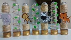 For jungle/safari party favors. Fill with bubbles and attach a bubble wand Safari Party, Festa Safari Baby, Jungle Party, Safari Theme, Baby Party, Jungle Decorations, Party Decoration, Deco Jungle, Lion King Party