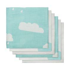 Jollein Hydrofiel Luier Clouds Jade