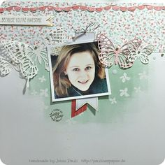 Stampin'Up! Butterfly Die Schmetterling Stanze Layout Jenni Pauli