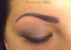Cosmetic eyebrow tattoo #hairstroke #browsbymelz.nl