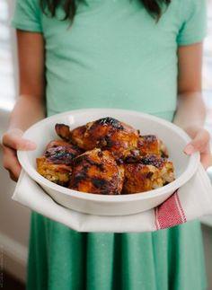 Honey Spice Marinated Grilled Chicken | www.kitchenconfidante.com