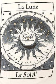 The moon, the sun.