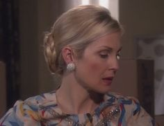 Lily van der Woodsens Round White Earrings from Gossip Girl: Gone Maybe Gone  #ShopTheShows #curvio