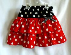 Minnie Mouse Inspired Girls Skirt, Girls Skirt, Red or Pink, Costume, Spring Summer Childrens Clothing. $36.00, via Etsy.