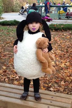 """My 2 year old daughter, Penny, insisted that she wanted a """"Timmy"""" costume this year . Timmy is the baby from a British claymation show called Shaun of the Sheep. I figured this would be a great..."""