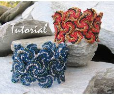 TUTORIAL  Fire and Ice Cuffs by LaBellaJoya on Etsy