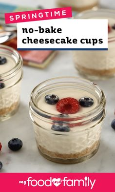 Springtime No-Bake Cheesecake Cups – When the weather warms up, it becomes the perfect time to serve up these fruity cheesecake cups! With the creamy PHILADELPHIA cream cheese filling that makes cheesecake so special, this spring treat is a true favorite.
