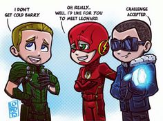 Oliver, Flash and Cold by Lord Mesa art